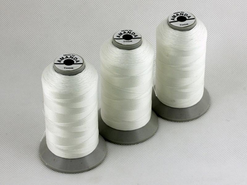 Spezialgarn THOR – antistatisches Garn mit Metallkern Polyestergarn, geklebt mit Kern aus rostfreiem Metall.